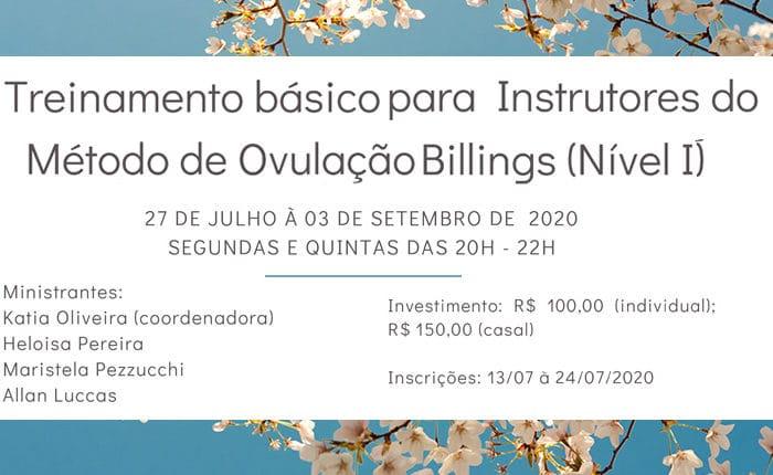 Protegido: Treinamento básico para Instrutores do Método de Ovulação Billings (Nível I)